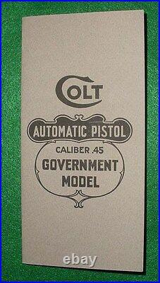 Original Instruction Box Manual Colt 1911 45 Automatic Pistol M-50-R 1917-18