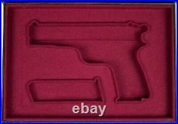 PISTOL GUN PRESENTATION CUSTOM DISPLAY CASE BOX for BROWNING HIGH POWER 2 Type