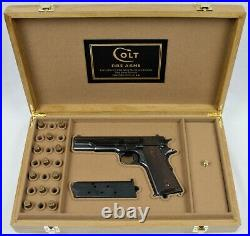 PISTOL GUN PRESENTATION CUSTOM DISPLAY CASE BOX for COLT m1911 government 45 ACP