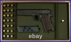 PISTOL GUN PRESENTATION CUSTOM DISPLAY CASE BOX for REMINGTON m1911 A1 colt
