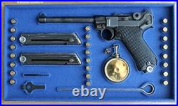 PISTOL PRESENTATION CUSTOM DISPLAY CASE BOX for LUGER P08 NAVY 6 inch PARABELLUM