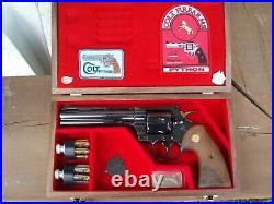 Pistol Gun Presentation Case Wood Box Colt Python 6 Barrel Snake Firearm Rare