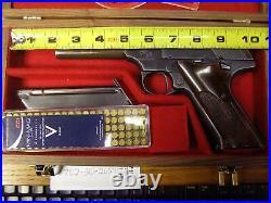 Pistol Gun Presentation Case Wood Box Colt Woodsman Huntsman Challenger Lr. 22