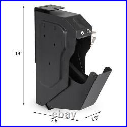 Portable Gun Pistol Safe Biometric Fingerprint Handgun Safe Locker Box Security