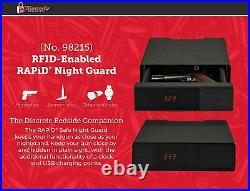 Portable Hand Gun Safe Instant Access Biometric Lock Box Electronic Night Guard