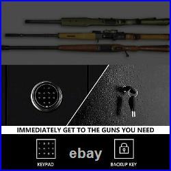 Powerdelux 5 Rifle Electronic Gun Safe Pistol Shortgun with 2 Handgun box & Keys