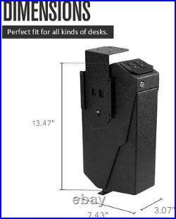 RPNB Portable Gun Pistol Safe Mounted Firearm Digital Key Lock Open Box