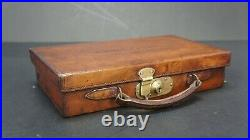 Rare English Antique Leather Pistol Case by Cogswell Harrison