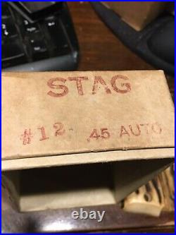 Real Stag 1911 Pistol Grips in Factory Box 1911A1 Gun Parts. 45