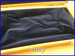 S&W Wooden Presentation Case Model 29 Smith Wesson Wood Factory Velvet Lined Box