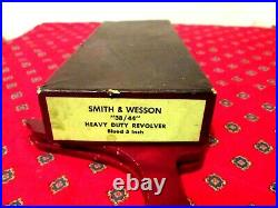 SMITH & WESSON'' 38/44'' HEAVY DUTY REVOLVER BLUED 5 inchin good s factory box