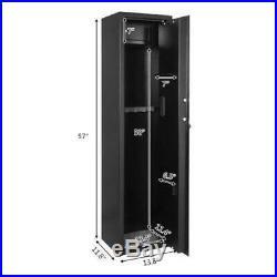 Security 5 Gun Rifle Shotgun Pistol Electronic Lock Case Safe Box Solid Steel