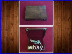 Smith & Wesson S&W Revolver or Pistol Presentation Case Wood Box Custom Fitted