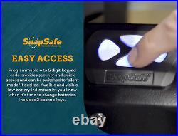 SnapSafe Drop Box Keypad Vault, Black 13.5H x 7.5W x 3.6D