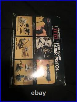 Star Wars Vintage Kenner ROTJ Biker Scout Laser Pistol With Box See Description
