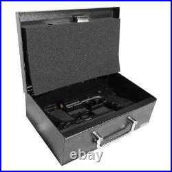 Stealth EZ Handgun Safe Steel Pistol Box Conceal Weapon Carry Handle PS1208EZ
