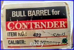 T/C Contender10 Bull Barrel. 30 Herrett With Original Box And Packaging