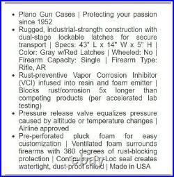Tactical Gun Hard Duty Case Storage Rifle Shotgun Air Gun Box Carry 42-in Black
