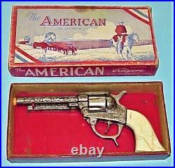 The American Toy Cap Pistol #105 By Kilgore, In Original Color Box