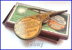 The Pistol Flashmeter Magnesium Ribbon 1900s Tin Holder Box Vintage Photography