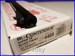 Thompson Center Contender TC 14 Barrel 22 Hornet Super 14 NOS New in Box