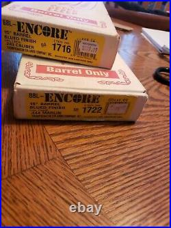 Thompson Center TC Encore Barrel. 243 win 15 pistol barrel with forend OEM box