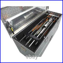 Truck Bed Gun Safe Vehicle Tool Lock Box Vault Transport 5 Rifle Shotgun Handgun