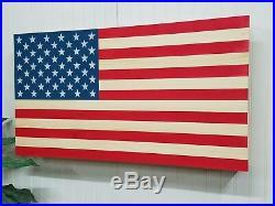United States USA Flag Gun Concealment Cabinet Secret Hidden Storage Box Case