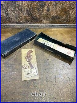 Vintage Box and Papers for Colt Firearms Single Action Army Revolver Pistol 38