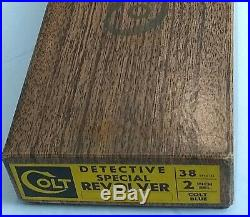 Vintage Colt Detective 38 Special Revolver Box & Paperwork Circa 1961 Colt Blue
