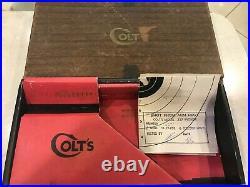 Vintage Colt Python Revolver 357 Mag 4 Inch Factory EMPTY BOX withOriginal Target