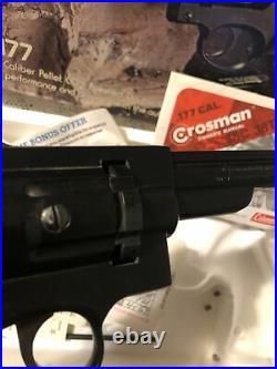 Vintage Crosman Model 38T. 177 Caliber CO2 Pellet Pistol By Coleman with Box 1978