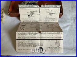 Vintage Mattel Shootin Shell Fanner Cap Pistol WithBullets Bag & Box #608
