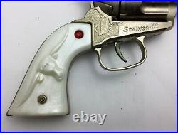 Vintage Nichols Stallion 45 Cap Pistol Revolver withOriginal Box Bullets Caps