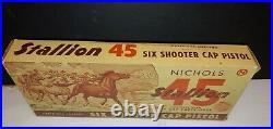 Vintage Nichols Stallion Mk-1 45 Pistol. & Bullets + Original. Box Works 100%