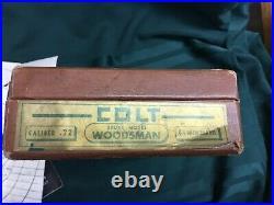 Vintage Original 1950s Colt Woodsman 4.5 inch Leatherette box with Manual & Target