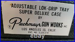 Vintage Pachmayr Super Deluxe 4 Gun Pistol Case Range Box USA nice shape
