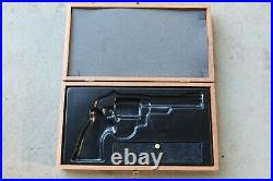 Vintage SMITH AND WESSON Wood Presentation Pistol Box Hunting Cabin Decor 14 X 8