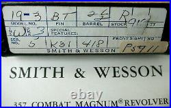 Vintage Smith & Wesson 2 1/2 Box Model 19 S&W 357 Magnum Manual Papers Brush