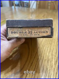 Vintage Smith & Wesson Cardboard Box, For a Nickeled Double Action 32 Revolver