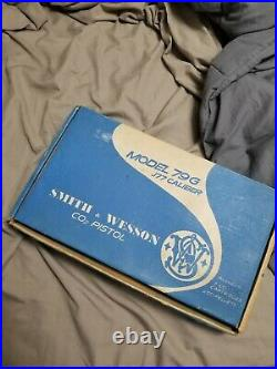 Vintage Smith & Wesson Model 79G. 177 cal CO2 Air Pistol in Box with paperwork