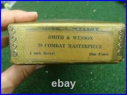 Vintage Smith & Wesson, S&W Gold k-38 Masterpiece pistol box with extras SEE ALL