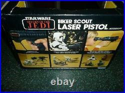 Vintage Star Wars ROTJ Biker Scout Pistol in Original Box
