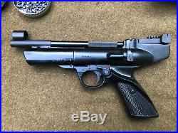 Vintage Webley Hurricane. 177 Air Pistol Air Gun With Papers With Box Works
