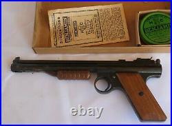 Vtg Benjamin Franklin Pellet Target Pistol. 177 Cal USA Near Mint With Box USA 137