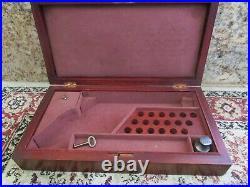 Vtg COLT M1873 Wood PRESENTATION BOX 5 1/2 Pistol with Oil Bottle & Key