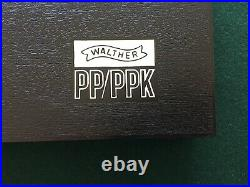 Walther PP PPK PPK/s Box Case Extra Magazine, Cleaning Rod & Manual NOS