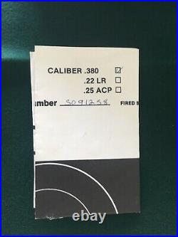 Walther PP or PPK/s Box Case Extra Magazine, Cleaning Rod, Manual & Target