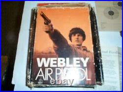 Webley & Scott Premier MK II 177 Pellet Pump Action Air Pistol in BOX Paperwork