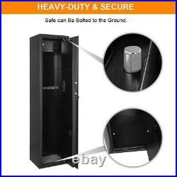Zokop 5 Gun Rifle Shotgun Pistol Electronic Digital Lock Keys Safe Box Black